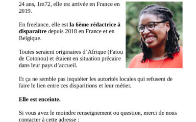 Avis de Recherche Nantes